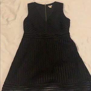Black J Crew Dress - layered eyelet size 4 Petite